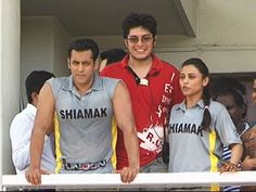 Salman Khan and Rani Mukherjee with Aamir khan's son Junaid Khan.