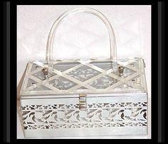 Vintage 1950s Lucite Purse Handbag Mad Man by ByMidnightSparkle, $145.00