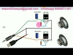simple Audio Amplifier Circuit usingMisfet by Manmohan Pal In this video i will show you how to make a simple Audio Amplifier circuit, this is a dual ch. Electronics Mini Projects, Electronic Circuit Projects, Electronics Basics, Electrical Projects, Electronic Engineering, Diy Bluetooth Speaker, Diy Speakers, Ab Circuit, Circuit Diagram