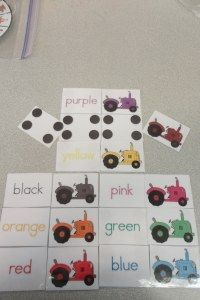 Tractor Coloring Matching Independent Activity