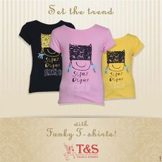 Set the trend! Bright and smart Tees!  #talesandstoriesclothing #childrenclothing #kidswear