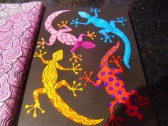 Book - The Neon Colouring Book.  Media - Sakura 3D glaze pens
