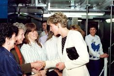 Princess Diana meets Newcastle Chronicle & Journal staff at Thomson House. 03/04/91