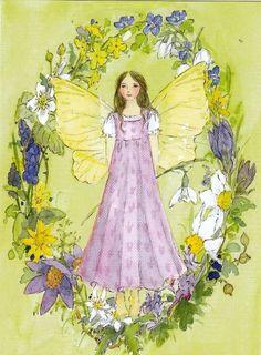 Daniela Drescher Winter Illustrations | Lente-elf (K50-648) ansichtkaart