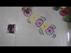 Instant Rangoli Design - YouTube