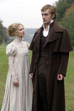 Morven Christie as Jane Bennet and Tom Mison as Mr. Bingley in Lost in Austen