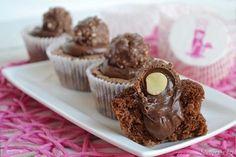Cupcakes rocher, scopri la ricetta: http://www.misya.info/2015/11/13/cupcakes-rocher.htm