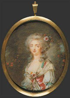 Madame de Polignac (presumed) by Pierre-Adolphe Hall (1739-1793)