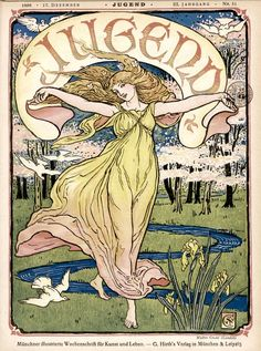 Art Nouveau cover for Jugend by Alphonse Mucha, 1895.
