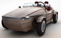 Toyota mostra conversível feito de madeira