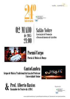 24.º Aniversário da Associação de Promoção e Desenvolvimento de Castelões > 2 Mai 2015, 21h @ Salão Nobre, APDC, São Pedro de Castelões, Vale de Cambra  #ValeDeCambra #SaoPedroDeCasteloes
