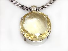 This Silver and Lemon Quartz Pendant can be worn on a chunky silver chain, a leather thong or an omega chain. Shop online at: http://www.catalisajewellery.co.za/product/lemon-quartz-pendant/