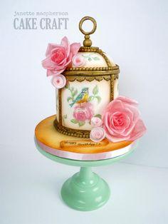 Vintage Birdcage Cake by Janette MacPherson Cake Craft