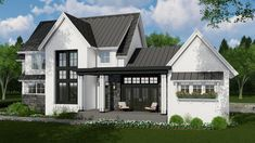 This farmhouse design floor plan is 3011 sq ft and has 4 bedrooms and has bathrooms. This farmhouse design floor plan is 3011 sq ft and has 4 bedrooms and has bathrooms. Modern Farmhouse Exterior, Modern Farmhouse Style, Farmhouse Design, Country Farmhouse, Farmhouse Decor, Modern Home Exteriors, Modern Home Plans, Farmhouse Bedrooms, Country Decor