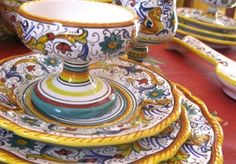Hand painted Italian dinnerware