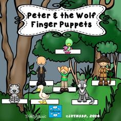 Bring the music and story to life for your students with these cute finger puppets as they learn about Prokofiev's Peter & the Wolf. Suggested uses....as part of your guided listening (students move the character whenever they hear that theme), as a workstation, or just for extra fun!