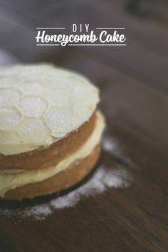 vanilla bean honeycomb cake recipe!