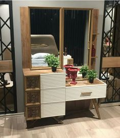 Vintage Dressing Table Design Ideas For Room - Wardrobe Design Bedroom, Bedroom Bed Design, Bedroom Furniture Design, Bedroom Decor, Modern Dressing Table Designs, Booth Seating, Seating Plans, Cupboard Design, Decoration
