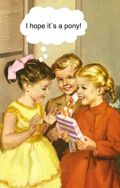 I hope it's a pony! I love these birthday cards with illustrations from the classic Ladybird books and their humour Happy Birthday Quotes, Happy Birthday Images, Happy Birthday Greetings, Birthday Messages, Birthday Cards, Birthday Humorous, Humor Birthday, Sister Birthday, Birthday Parties