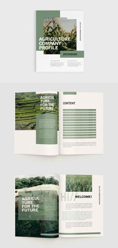 Agriculture Company Profile Template INDD - 20 pages Company Profile Design Templates, Agriculture Companies, Report Design, Business Profile, Print Templates, Minimal Design, Layout Design, Drawing, Illustration