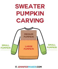 How to carve a sweater for pumpkins! | sweater pumpkin tutorial