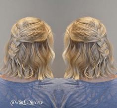 french braided half up