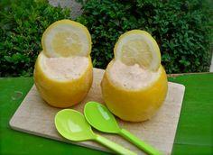 Super Healthy Home-made lemon/vanille ice cream! Recept voor super gezond zelfgemaakt citroen/vanille ijs!