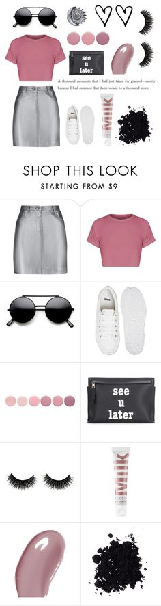 """xx Metallics pt. 3 xx"" by katherinexsj ❤ liked on Polyvore featuring Pierre Balmain, ASOS, Deborah Lippmann, Loewe, MILK MAKEUP, Chantecaille, white, Pink, black and metallic"