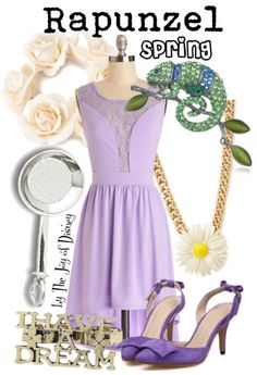 Affordable Spring outfit inspired by Rapunzel from Tangled!