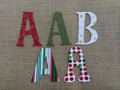 custom 4 inch handmade christmas cotton iron on letters numbers and