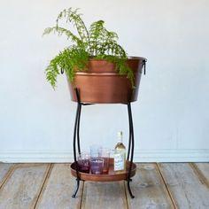 Copper Beverage Tub & Stand