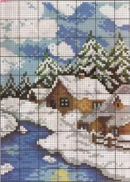 Картинки по запросу мини пейзажи вышивка крестом