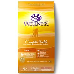 Wellness Complete Health Natural Dry Dog Food - Puppy Health Recipe - ~~ To check this awesome product by going to the link at the image. (This is an affiliate link and I receive a commission for the sales) Turmeric Tea, Golden Milk, Wild Bird Food, Healthy Brain, Puppy Food, Dry Dog Food, Pet Food, Salmon Recipes