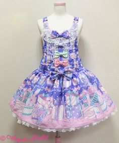 Wrapping Heart Salopette - Angelic Pretty   Colorway - Blue