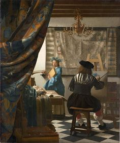 Baroque painting - Jan Vermeer, The Allegory of Painting or The Art of Painting, 1666–67, 130 x 110 cm., Kunsthistorisches Museum, Vienna