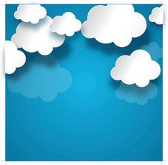 white cloud on blue background vector art illustration