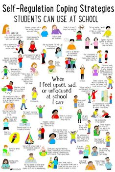 What's Included: ✔ 50 Self-Regulation Coping Strategies Students Can Use at School poster ✔ Checklist to identity coping skills ✔ Spinner Craft ✔ Task Cards perfect to use in your Calm Down Corner, Zen Zone, Peace Center area. Education Positive, Education Week, Positive Discipline, Education System, Higher Education, Physical Education, Positive Behavior Support, Montessori Education, Character Education