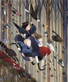 Mary Poppins illustration by Julia Sarda Mary Poppins illustration by Julia Sarda Mary Poppins illustration by Julia Sarda Art And Illustration, London Illustration, Character Illustration, Illustration For Children, Book Illustrations, Julia Sarda, Edition Jeunesse, Mary Poppins, Childrens Books