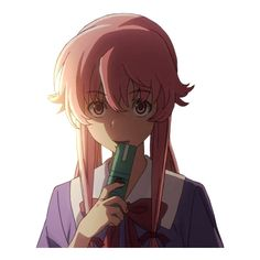 transparent anime, Transparent Yuno (ʃƪ ˘ ³˘) ❤ liked on Polyvore featuring anime, manga and mirai nikki