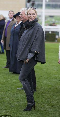 Zara Phillips in cape coat