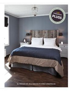 I just love rich wood headboards like this.  And it would be so easy to make!