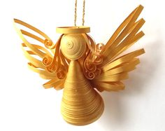Quilling Angel Quilling arte ornamento Quilled Set da 2