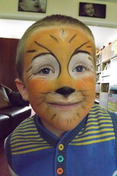 1st attempt at face painting - Tiger