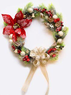 Winter Christmas wreath, Front Door Wreath, Outdoor Wreath, Decor