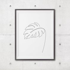 Leaf Prints, Art Prints, Canvas Art Projects, Home Printers, Tropical Leaves, Printable Wall Art, Line Art, Poster Ideas, Glue Gun