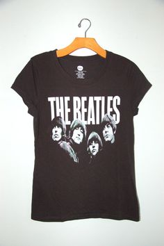 NOMAD YOUTH has the best vintage band tee selection. THE BEATLES black shirt by NomadYouth on Etsy. #thebeatles