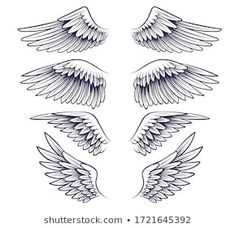 Wing Neck Tattoo, Wing Tattoos On Back, Back Tattoo, Band Tattoos For Men, Tattoos For Guys, Small Tattoos, Wings Sketch, Wings Drawing, Angel Wings Art
