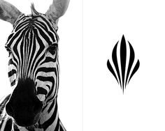 Logo Sankara Hotel > evolved from a zebra's face markings that created a symbol of international stature but with African roots.