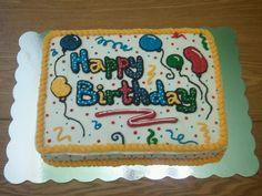 Birthday slab cake
