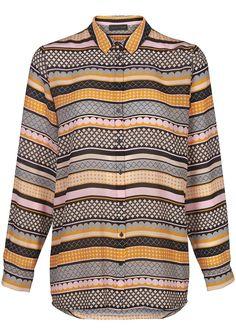 Silkeskjorte stribet 15035 Storm og Marie Nova Shirt - all over print